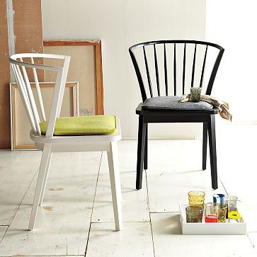 Delightful Dining Head Chair Option   #3    Do Them In Black Modern Windsor Dining