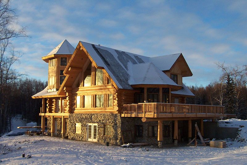 Home alaska future pinterest nice houses alaska and for Alaska log home builders