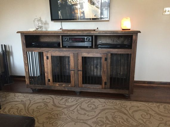 Entertainment Center Pet Kennel Dog Crate Furniture Crate