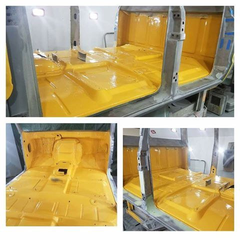 The Product Is Zero Rust And We Use It For All Rust Proofing Inside Of Our Cabs After This Coat Comes Chevy Trucks Custom Chevy Trucks Automotive Restoration