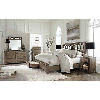 Beverly 6Piece Cal King Mirrored Bedroom Set  My Future Abode Glamorous Cal King Bedroom Sets Design Inspiration