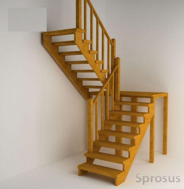 Лестница с поворотом на 180 своими руками 983