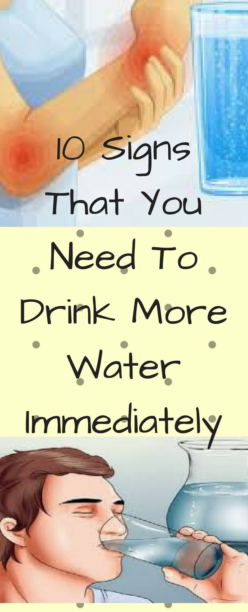 signs that you need to drink more water immediately