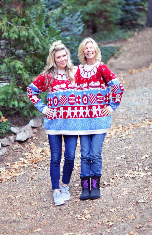 tomsfortarget fugly fun two headed ugly holiday sweater