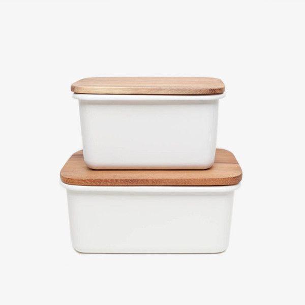 Enamel Storage Boxes Kitschy Kitchen Kitchen Time Food Containers