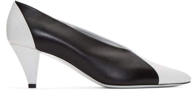 e4dc11eb8ae42 Givenchy Black and White Leather Heels Givenchy, Yüksek Topuk Gece  Ayakkabıları, Siyah Beyaz,