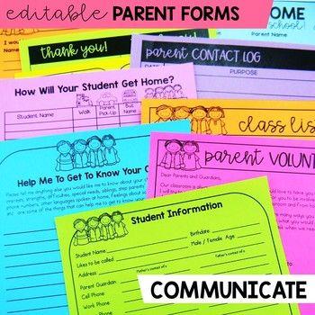 Meet the Teacher Back to School Night Parent Forms Stations Labels BRIGHTS #meettheteacherideas