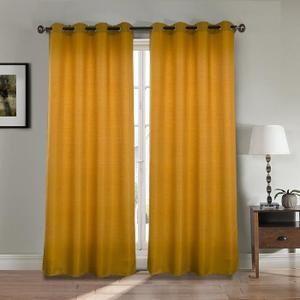 RIDEAU Paire double rideaux - 2x140x260 cm - Effet lin - | Our Own ...