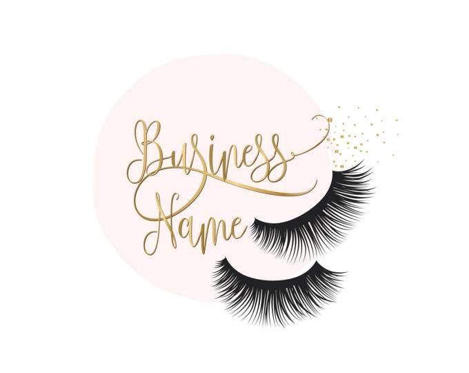 d145267bf96 Custom logo design , lashes logo, eye lashes beauty logo, makeup logo, gold  lashes logo design, gold pink beauty logo, graphic design lashes