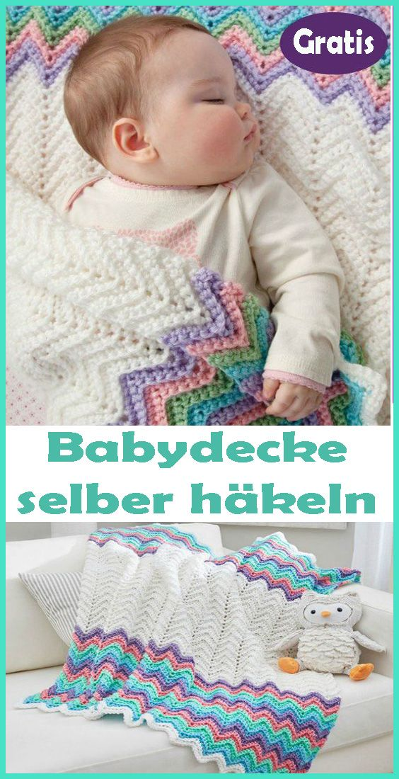 Babydecke selber häkeln - kostenlose & einfache Anleitung ...