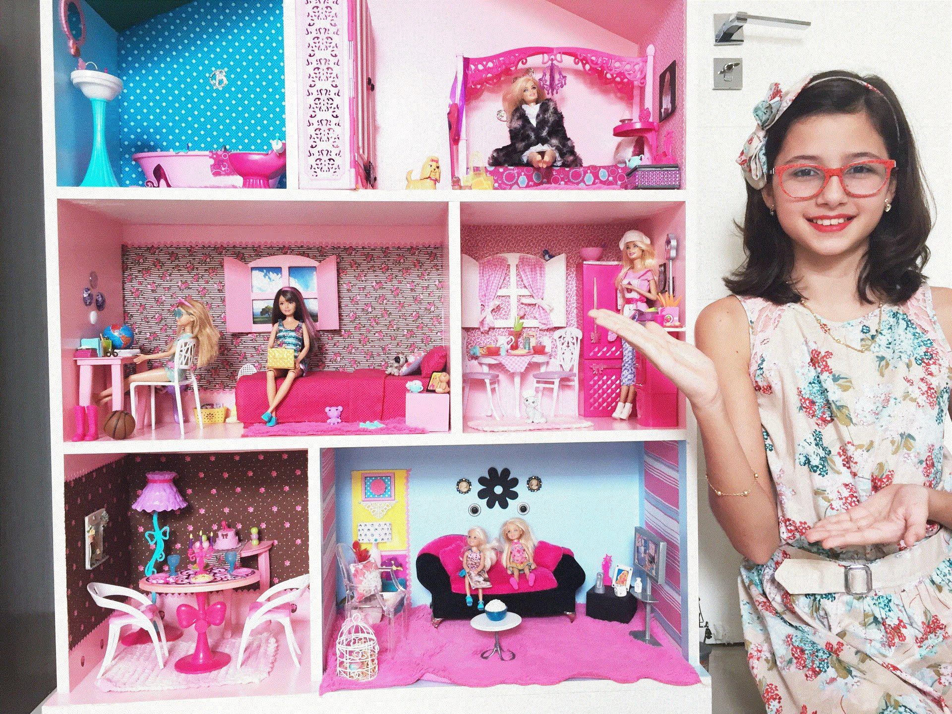 Decorando Minha Casa da Barbie Atualizada Por Mikaela