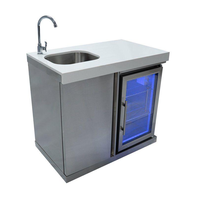 Outdoor Free Standing Bar Center Sink In 2020 Outdoor Kitchen Sink Outdoor Sinks Small Outdoor Kitchens