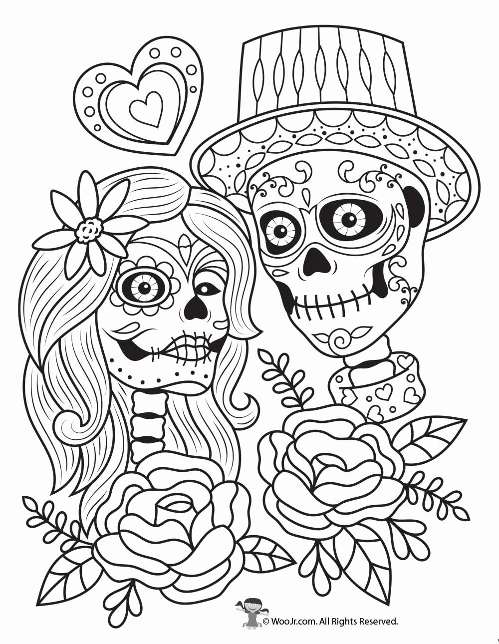 - √ 32 Day Of The Dead Coloring Book (With Images) Skull Coloring