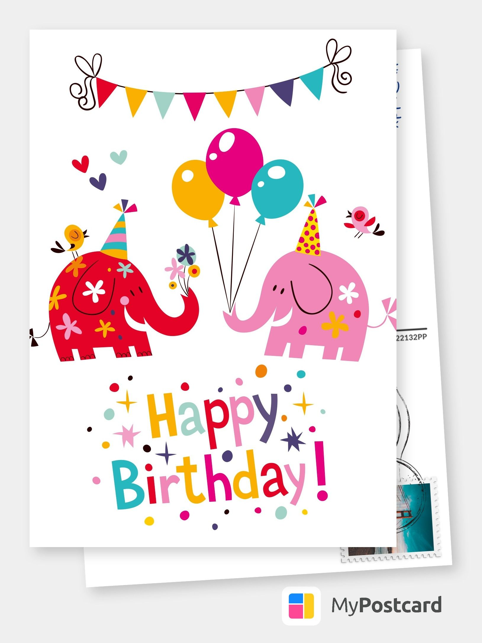 Create Your Own Happy Birthday Cards Free Printable Templates Printed Mailed For You Photo Cards Photo Postcards Greeting Cards Online Sevice Postc Birthday Cards To Print