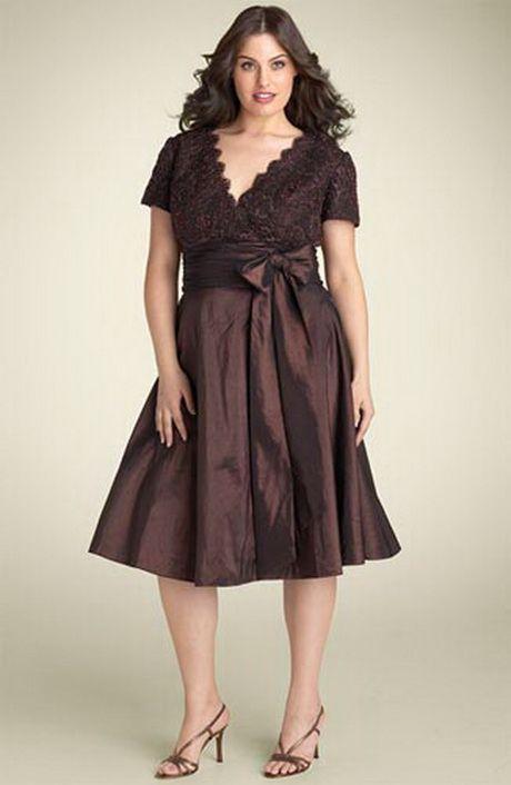 Vestidos elegantes para mujeres rellenitas