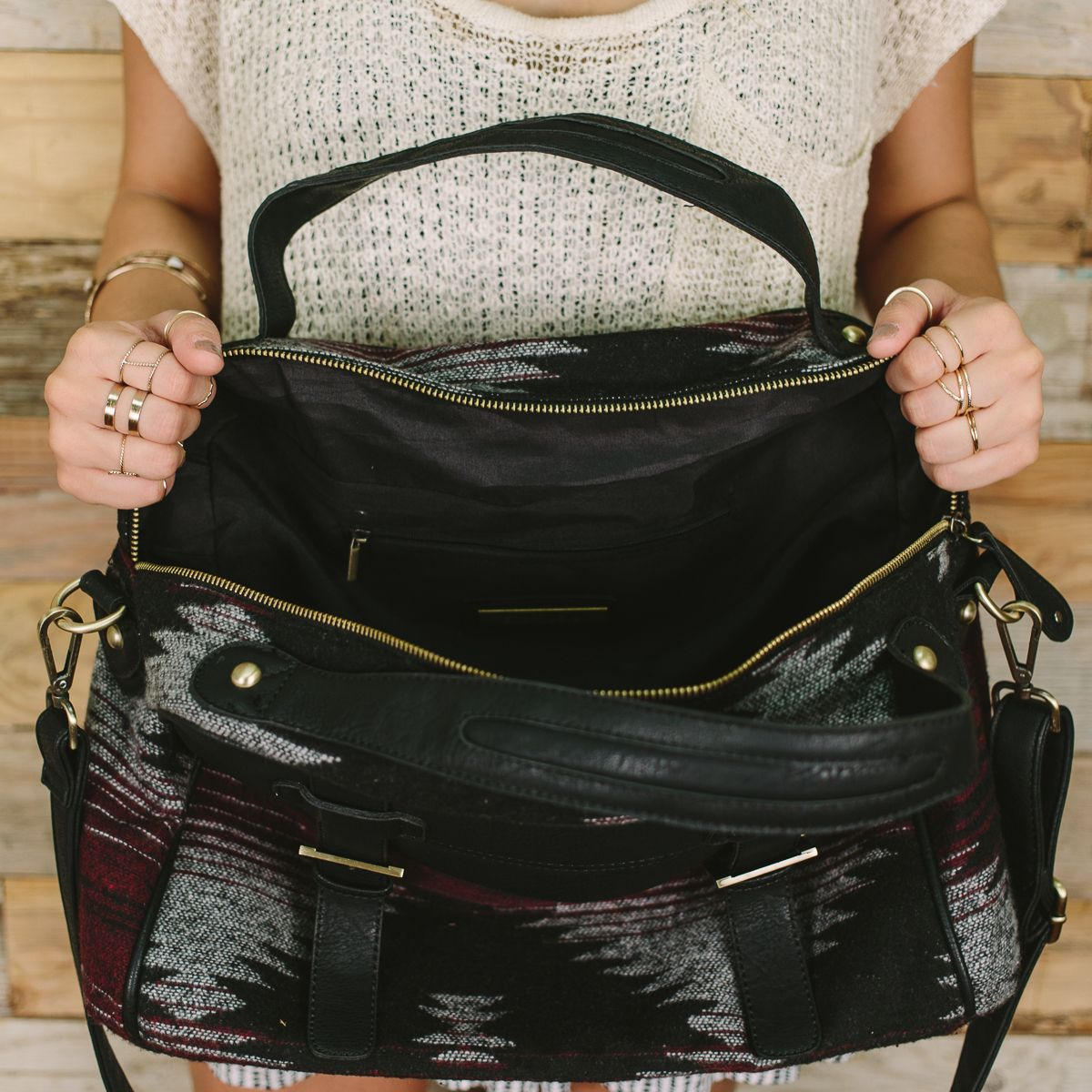 Cheyenne Wool Tote Bag, Nectar Clothing