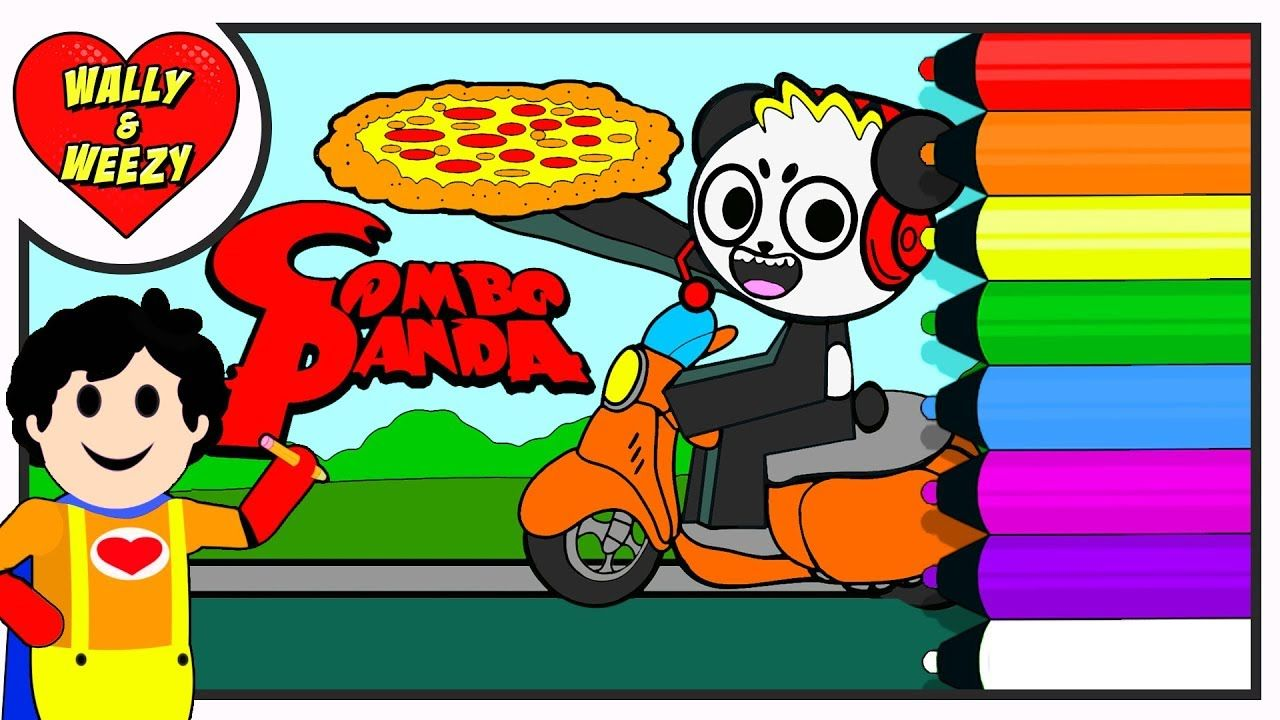 Combo Panda Let's Play Pizza Place Coloring Page!!! Ryan