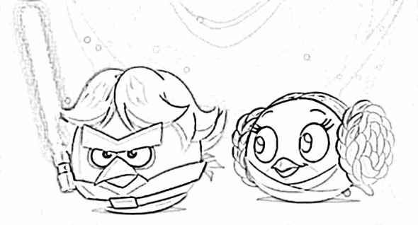 Angry Birds Star Wars coloring pages | Angry Birds Party | Pinterest ...