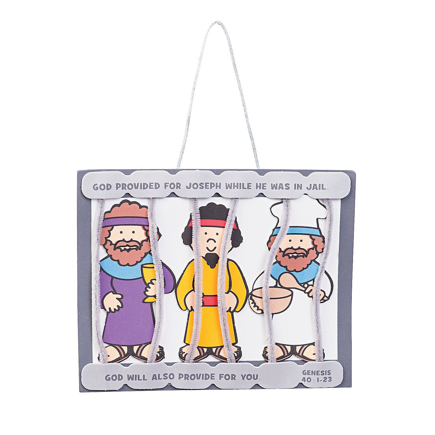Joseph in Jail Sign Craft Kit | Los soñadores, Escuela dominical y ...
