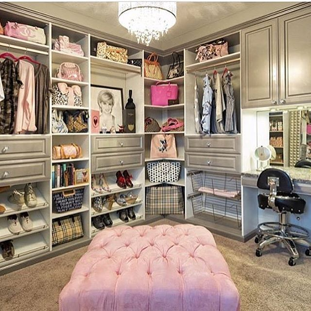 Closet goals tag your bestie credit for Bedroom designs with attached bathroom and dressing room