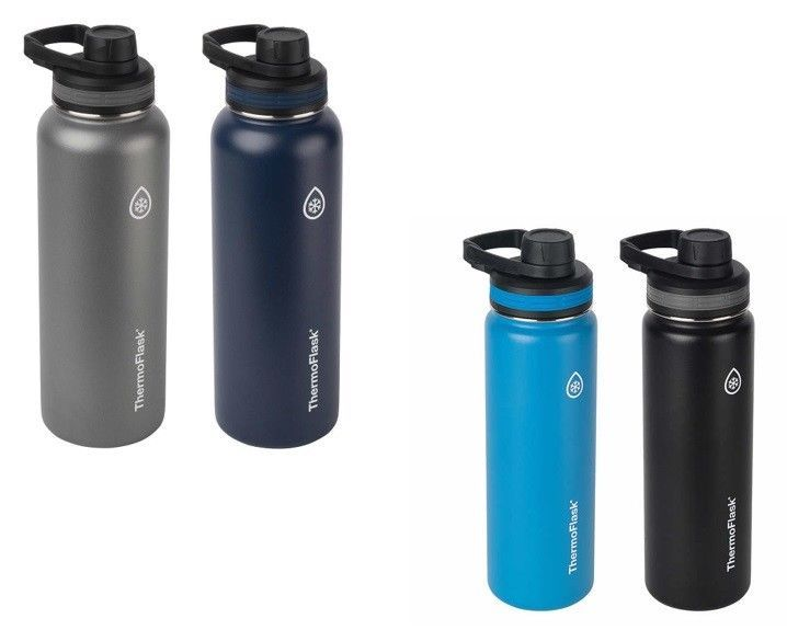 a2bf2358cf ThermoFlask Stainless Steel Insulated Water Bottle 2-pack 40 oz Pick Color  Wide #Thermoflask