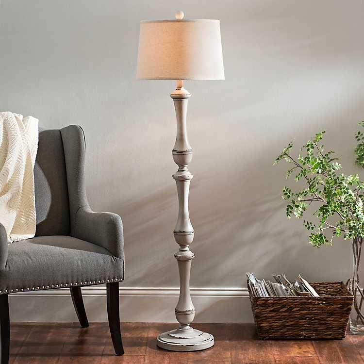 Hadley Gray Floor Lamp Floor lamp grey, Farmhouse floor
