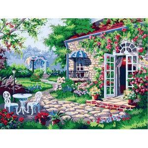 Терраса Раскраска картина по номерам акриловыми красками ...