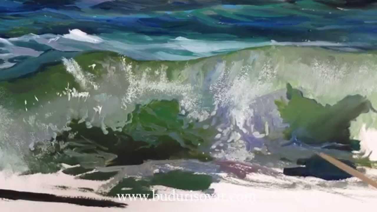 Видео уроки рисования маслом море