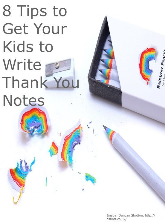 Tips For Getting Kids To Write Thank You Notes  Note And Hand