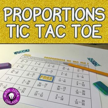 Solving Proportions Game Tic tac toe, Group activities and - sample tic tac toe template