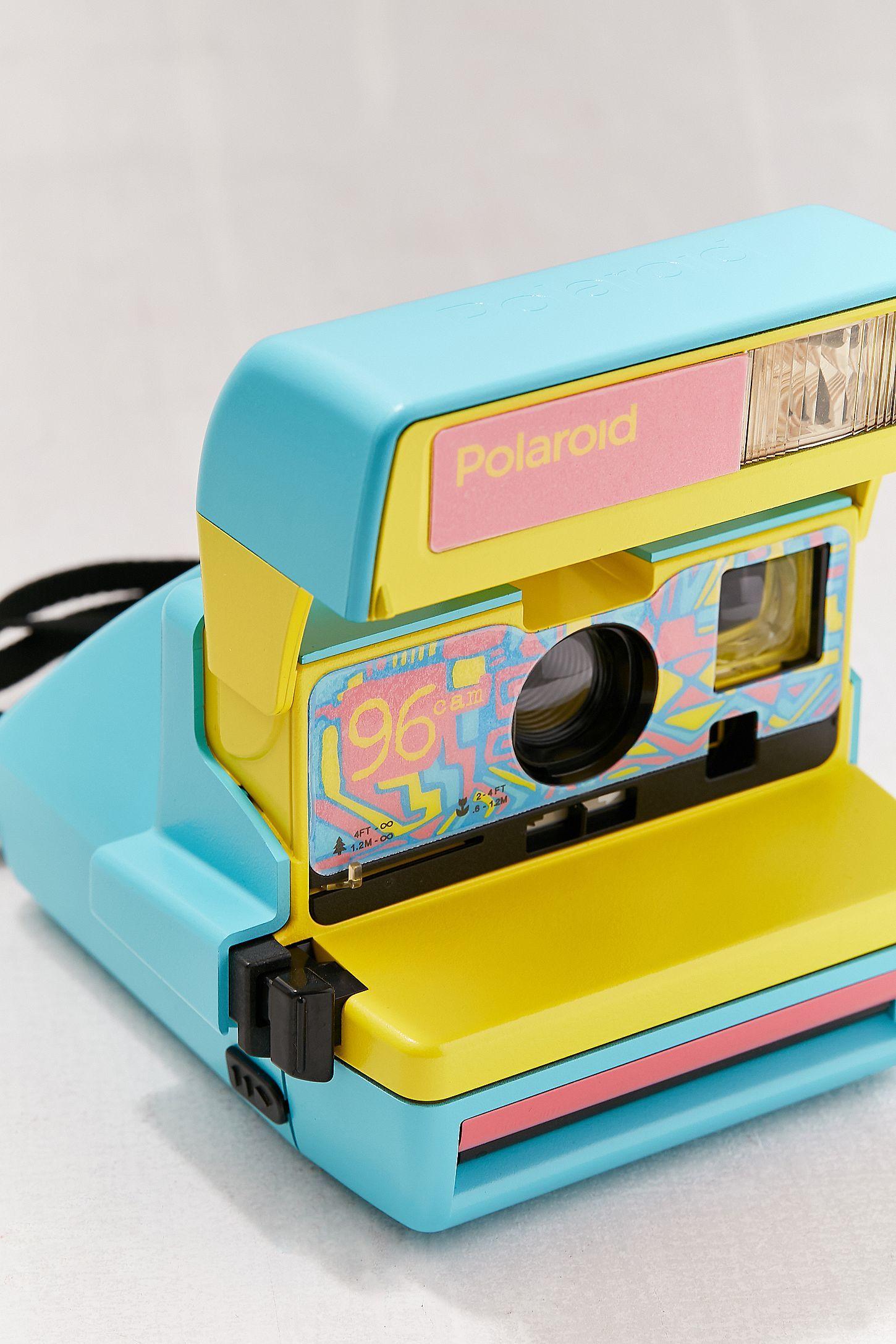 92f12a91d90231 Slide View  3  Polaroid Originals Refurbished 600 96 Cam Fresh Blue Instant  Camera