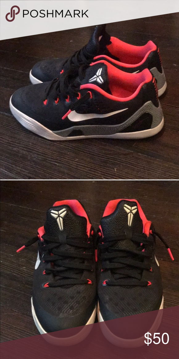 Nike Kobe Bryant Pink and Black Sneakers Size 5.5 youth and a 7.5-8 in  women s. They are too big for me and i wear a 7-7.5. Bought this Preloved  and in good ... 6a9bb25617