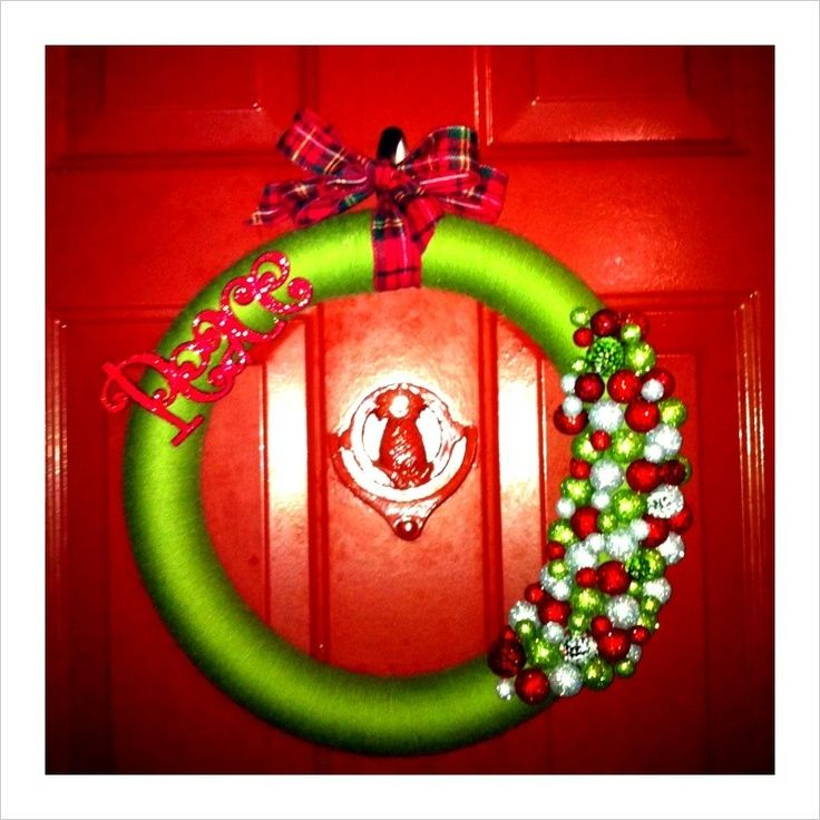 My DIY Christmas wreath! - See more beautiful DIY Chrsitmas Wreath - christmas wreath decorations
