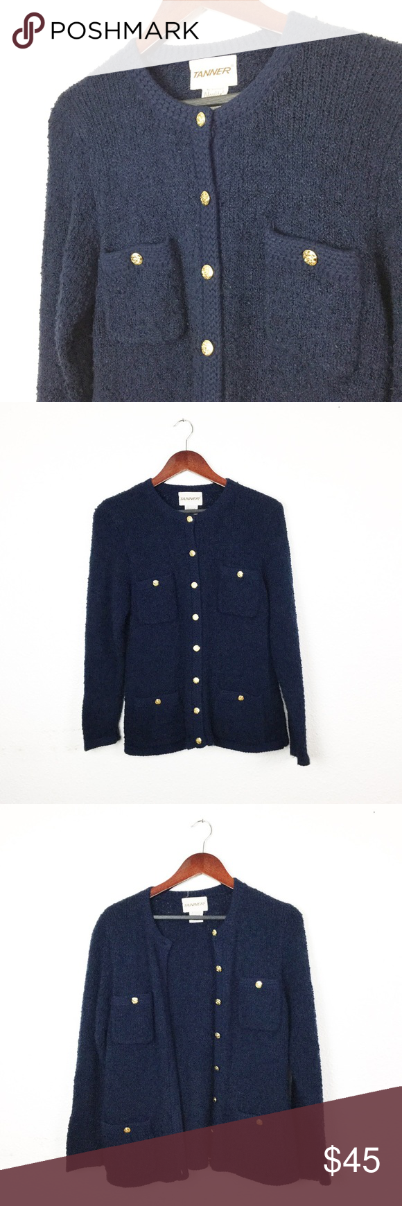 Vintage tanner navy cardigan | Hand washing, Navy and Blue gold
