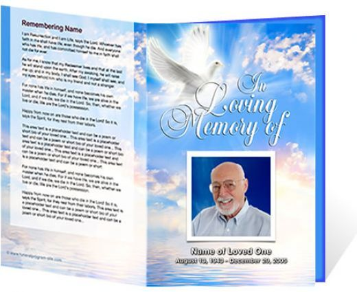 Downloadable Funeral Bulletin Covers – Free Memorial Program Template