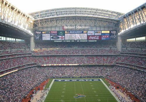 Reliant Stadium Witht The Roof Open Nrg Stadium Nfl Stadiums Stadium
