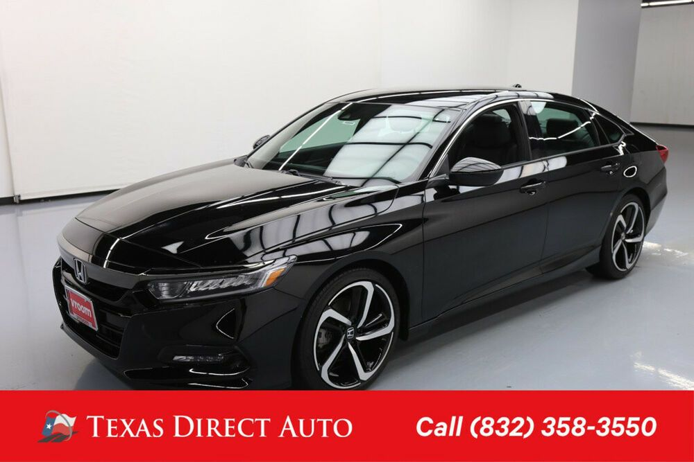 For Sale 2018 Honda Accord Sport 1 5t Texas Direct Auto 2018 Sport 1 5t Used Turbo 1 5l I4 16v Automatic Fwd Honda Accord Honda Civic Turbo 2018 Honda Accord