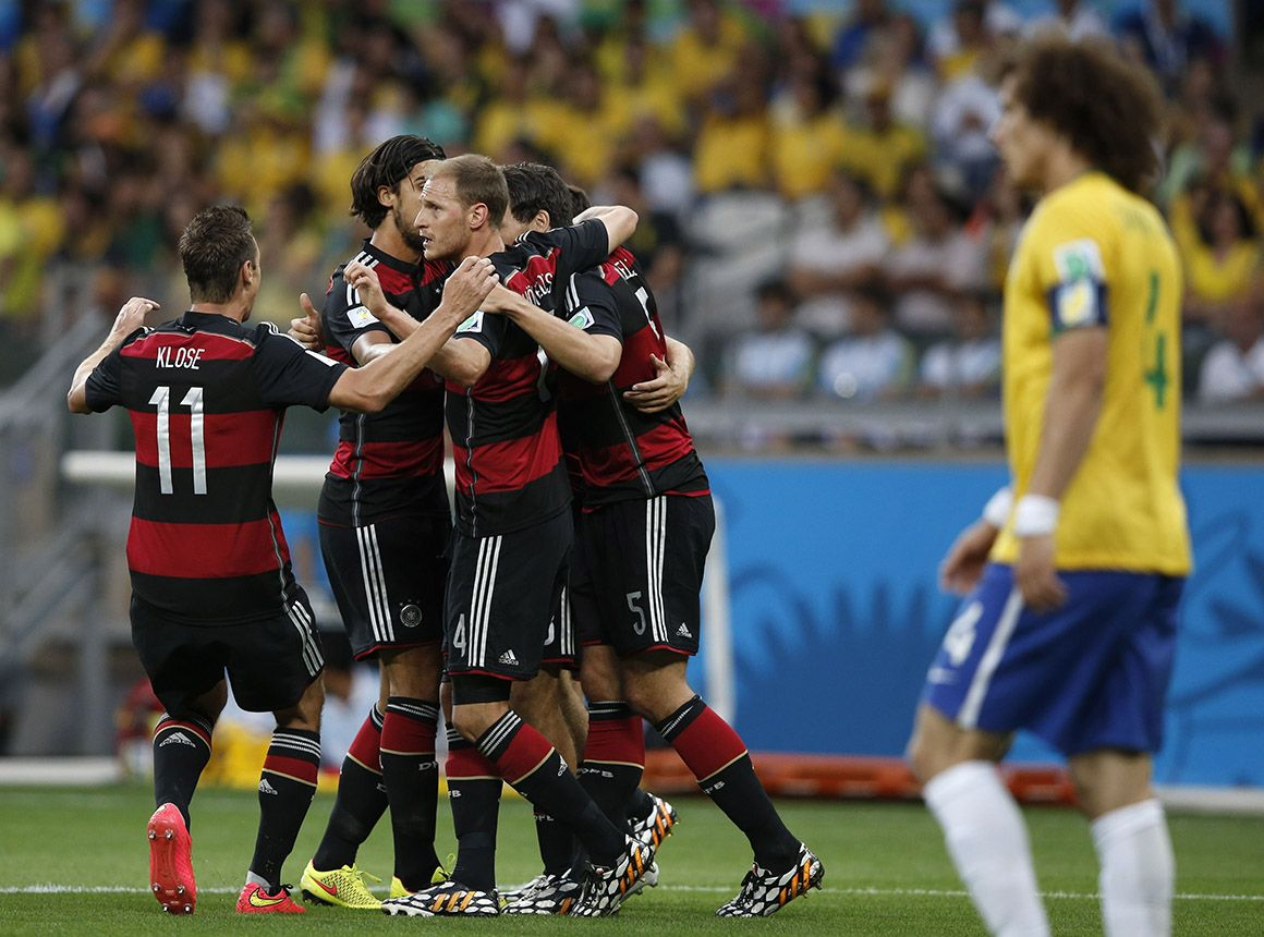 Festejos dos jogadores holandeses;arena Fonte Nova, Salvador AFP PHOTO  ODD ANDERSEN