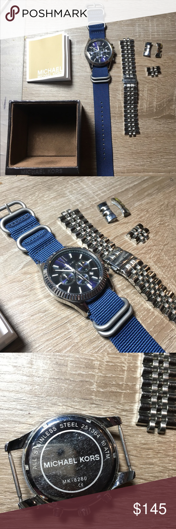 Michael kors lexington menus chronograph watch just had battery