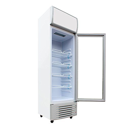 319l Glass Swing 1door Beer Soda Milk Beverages Cooler Commercial Refrigerator Merchandiser Display 1 Commercial Refrigerators Refrigerator Sale Upright Fridge
