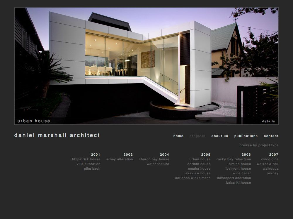 Architecture portfolio website google search portfolio for Modern house website