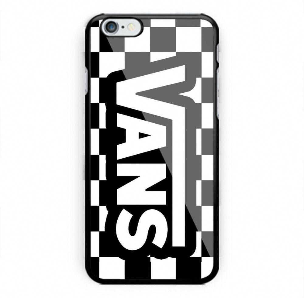 los angeles 90b6b 16028 Vans Logo Chess Pattern iPhone 7 8 + X XR XS MAX Hard Plastic Case ...