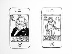 Sans-titre (Iphone drawings) - feutre sur papier Canson 180 grammes - 32X24 - 2013 - ©R&PJ+ADAGP