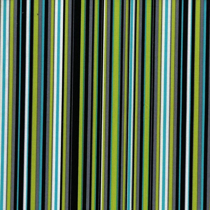 Cx3137 Play Stripe lagoon basics green lime turq multi stripes