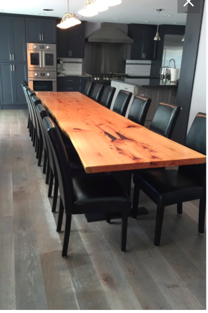 A Beautiful Reclaimed Monterey Cypress Dining Table Ready To Seat 16