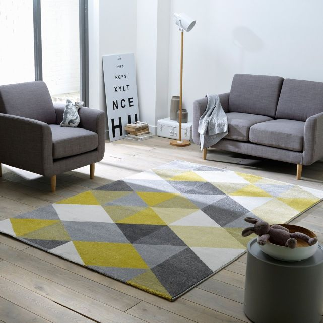 Blue And Yellow Rug With Images Polyester Rugs Yellow Area