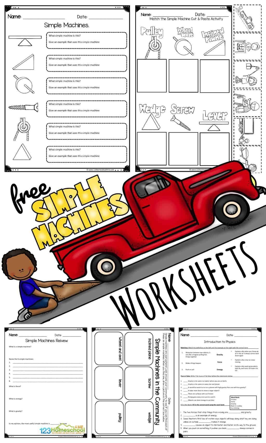 Free Simple Machine Worksheets In