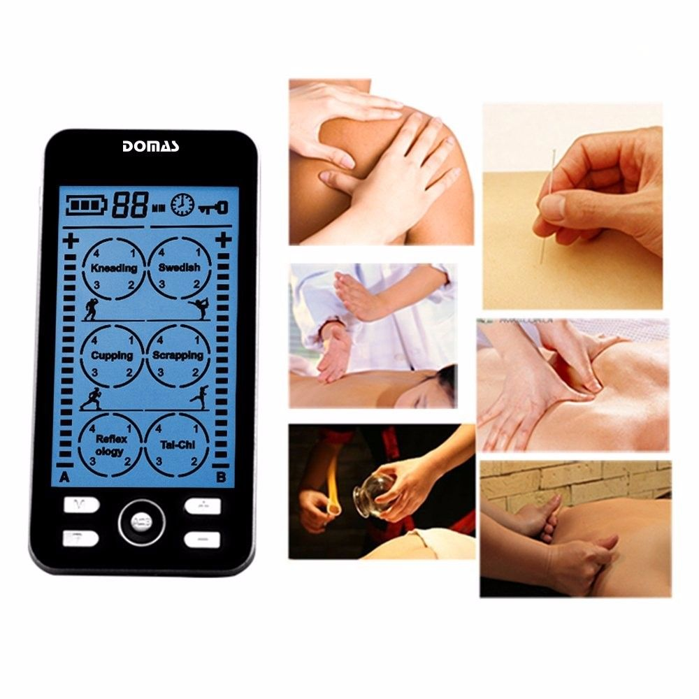 DOMAS 2 channel TENS Unit Electronic Pulse Massager 24 mode ElectroTherapy  device pulse massager //Price: $63.68 & FREE Shipping // #hashtag1
