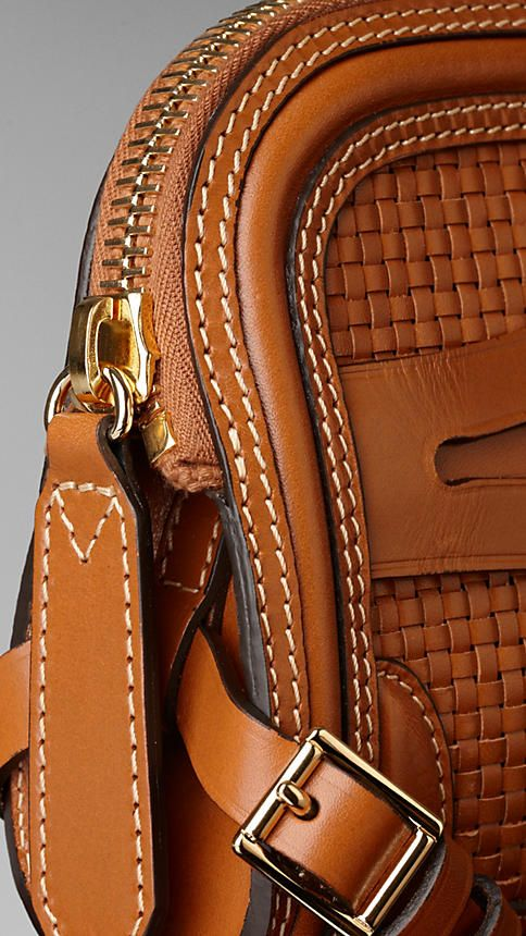 Woven Bridle Leather Belted Clutch Bag | Burberry