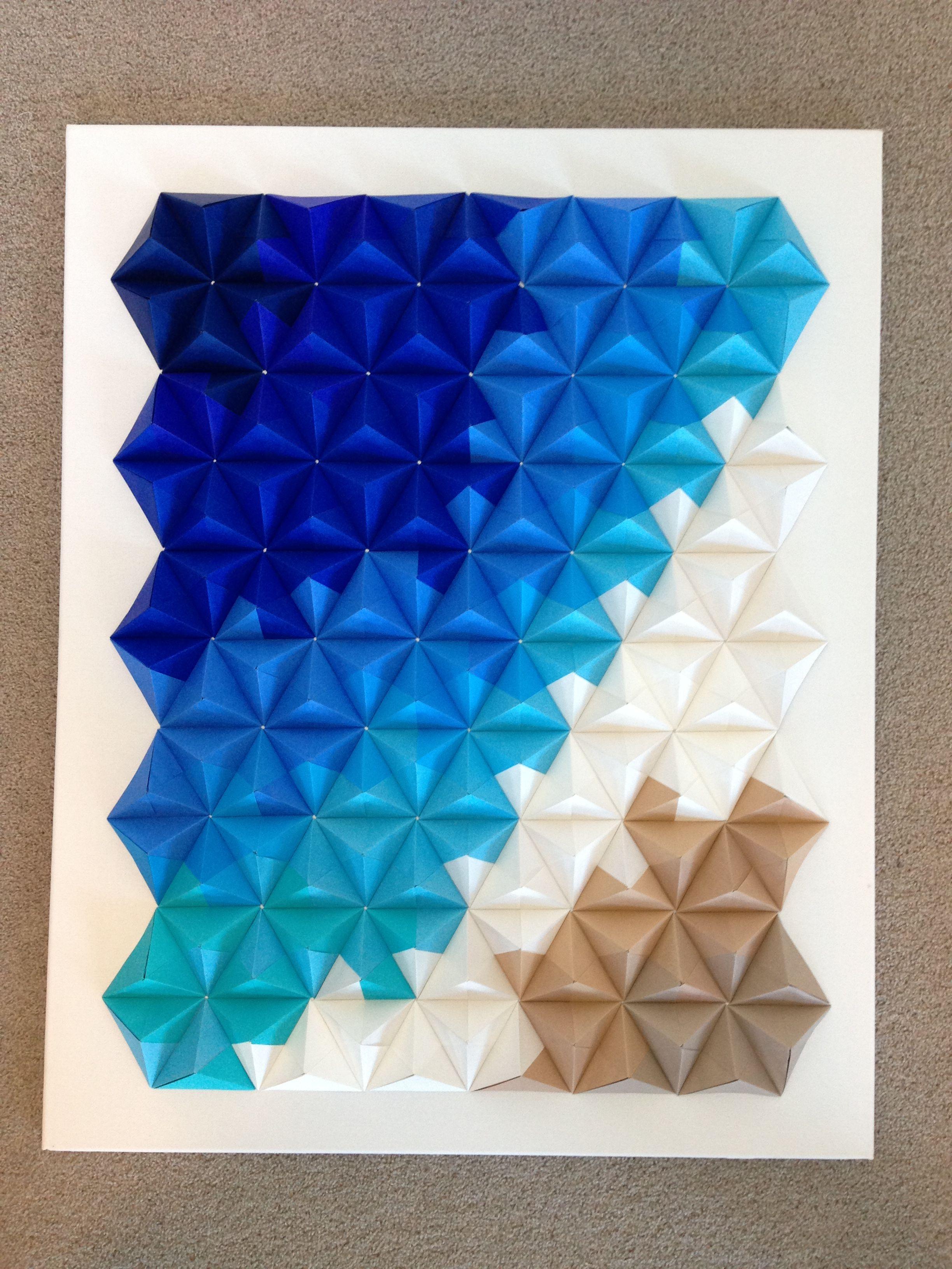 Modular Origami Wall Hanging